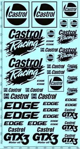 Castrol Sponsoren Decal 6-3 1:18 Decal Abziehbilder 195 x 100 mm