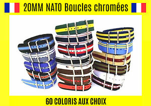 Nato-20MM-Bracelet-Montre-Watch-Band-Strap-Nylon-Militaire-Army-Fashion-Mode