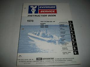 1978 EVINRUDE ( JOHNSON)  150/175/200/23<wbr/>5 HP.  OEM SERVICE SHOP  MANUAL CLEAN