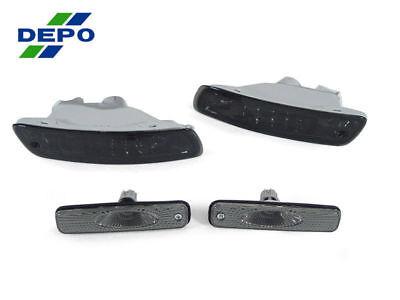 DEPO JDM Crystal Smoke Lens Front Bumper Signal Lights For 96-99 Toyota Celica