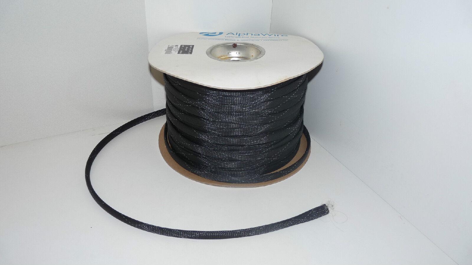 Alphawire de grp-120-nf12 Negro trenzado de Alphawire alambre de cable 1/2 Sleeving 500ft grp120nf12 a946dd