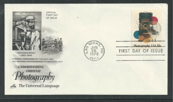 # 1758 PHOTOGRAPHY, THE UNIVERSAL LANGUAGE 1978 ArtCraft First Day Cover
