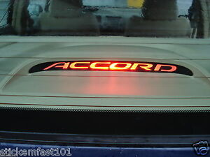 Honda Accord 3rd Brake Light Decal Overlay 08 09 2010 2011
