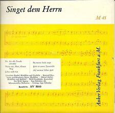 """SG 7"""" - Lieselotte Rockel - Singet dem Herrn - Anker Verlag 5010 (6 Songs)"""