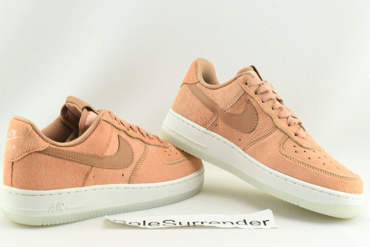 Nike Air Force 1 '07 LX - SIZE 6.5- 898889-800 Pony Horse Hair Wheat Flax Orange