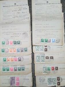 1943-211-LOTTO-DOCUMENTI-DI-TASSE-CON-RARE-MARCHE-DA-BOLLO-USATE-DURANTE-R-S-I