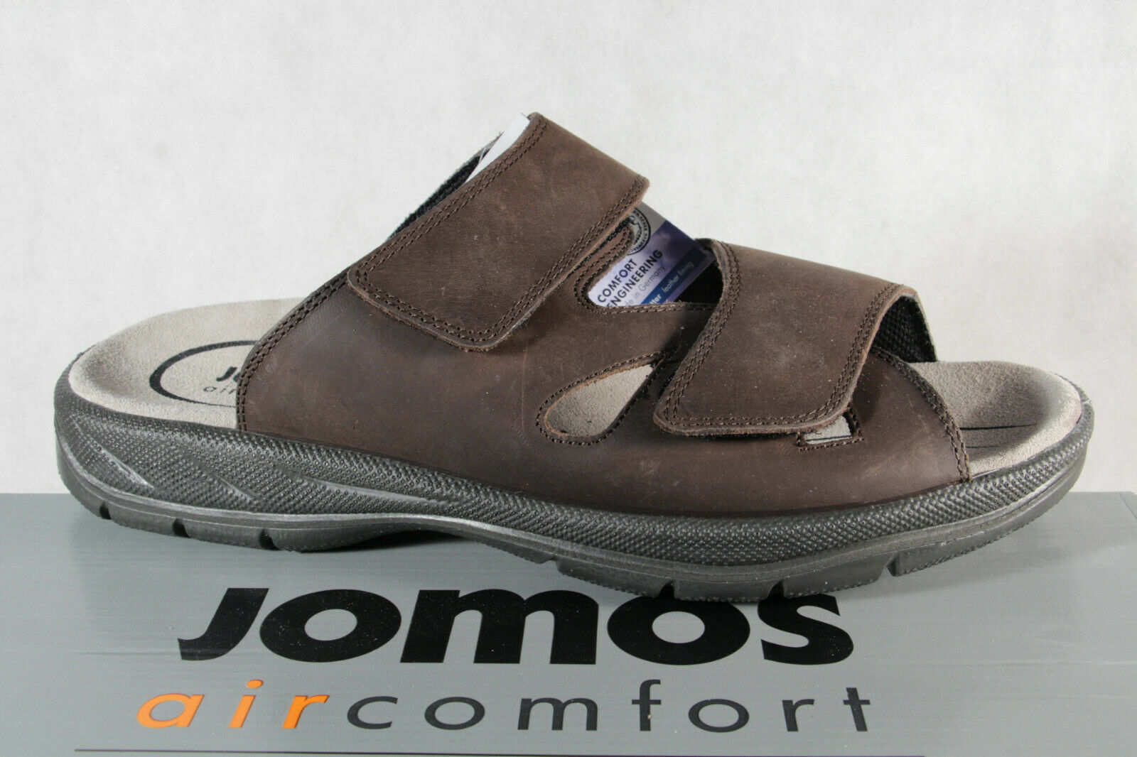 Jomos Men's Mules Slippers Real Leather Braun Width H New
