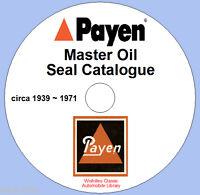 Payen Master Oil Seal Guide circa 1939 ~ 1971 DVD ROM