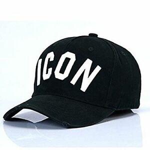 04c6a31433 Dettagli su Dsquared 2 Berretto Da Baseball Cappello Nero e Bianco icona  del carcere LOGO DSQUARED CAP UK- mostra il titolo originale