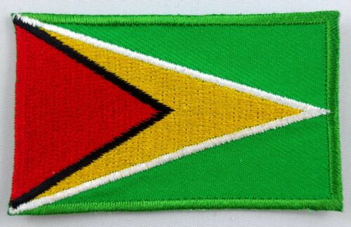 Guyana Drapeau Patch brodé Iron On Applique guyanienne