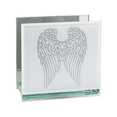 Lesser Pavey magnifique verre ailes d/'ange design miroir Tea Light Candle Holder