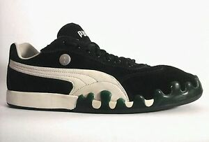 104cd4e90cb9 PUMA Suede Shoes Green Paint Drip Black Sneakers Men s US 12 UK 11 ...