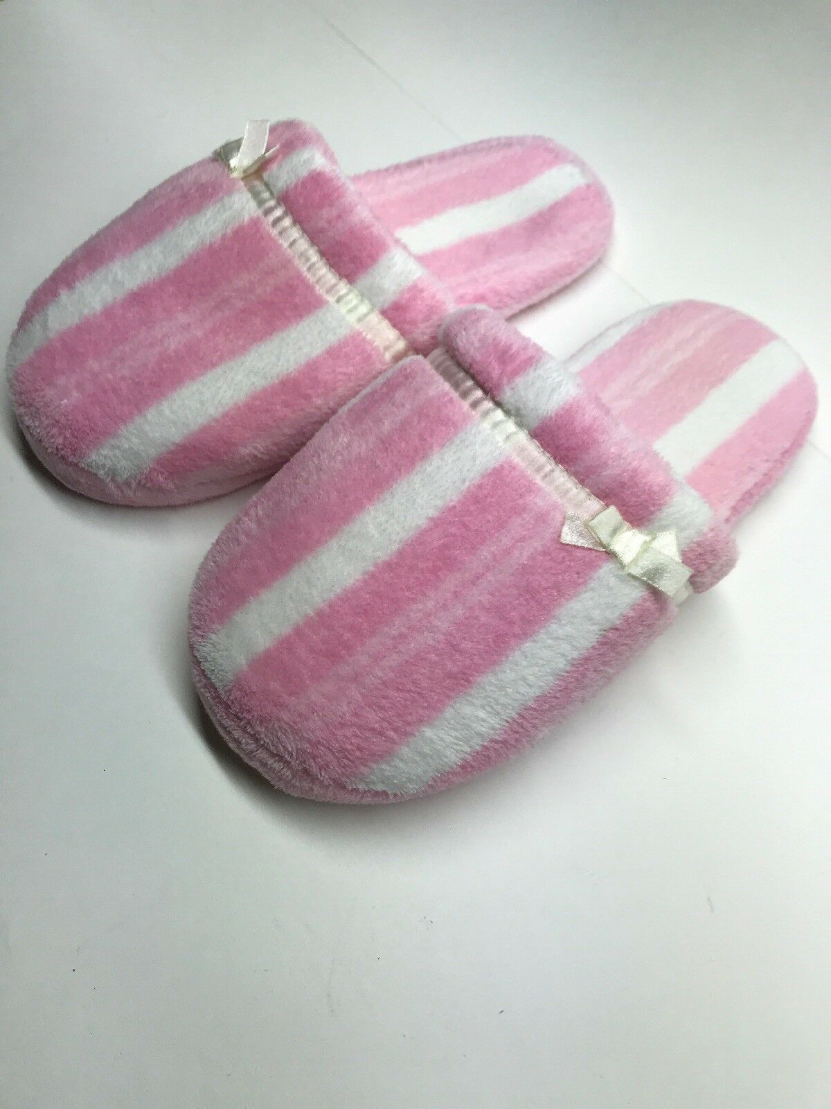 Womens Slippers Pink Comfortable And White Stripes Soft Comfortable Pink Cozy Cute 157f92