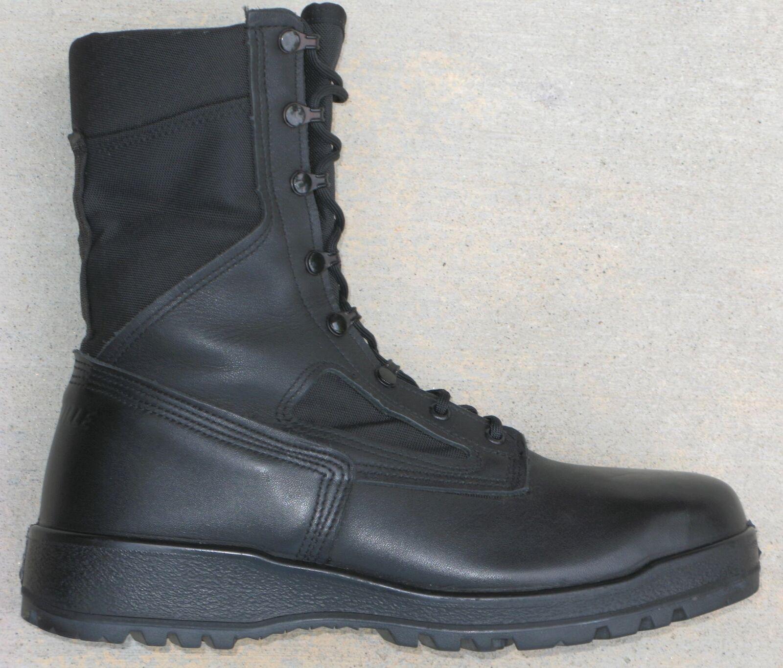 Belleville 300 Tropisch Stahlkappe Vanguard 11 Stiefel Herren Sz 11 Vanguard Schwarzes Leder 26ed35