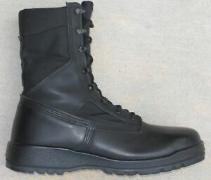 cuero para acero vanguardia tropical 11 Sz Belleville hombres 300 botas con punta de negro de de n0n6zSwWq