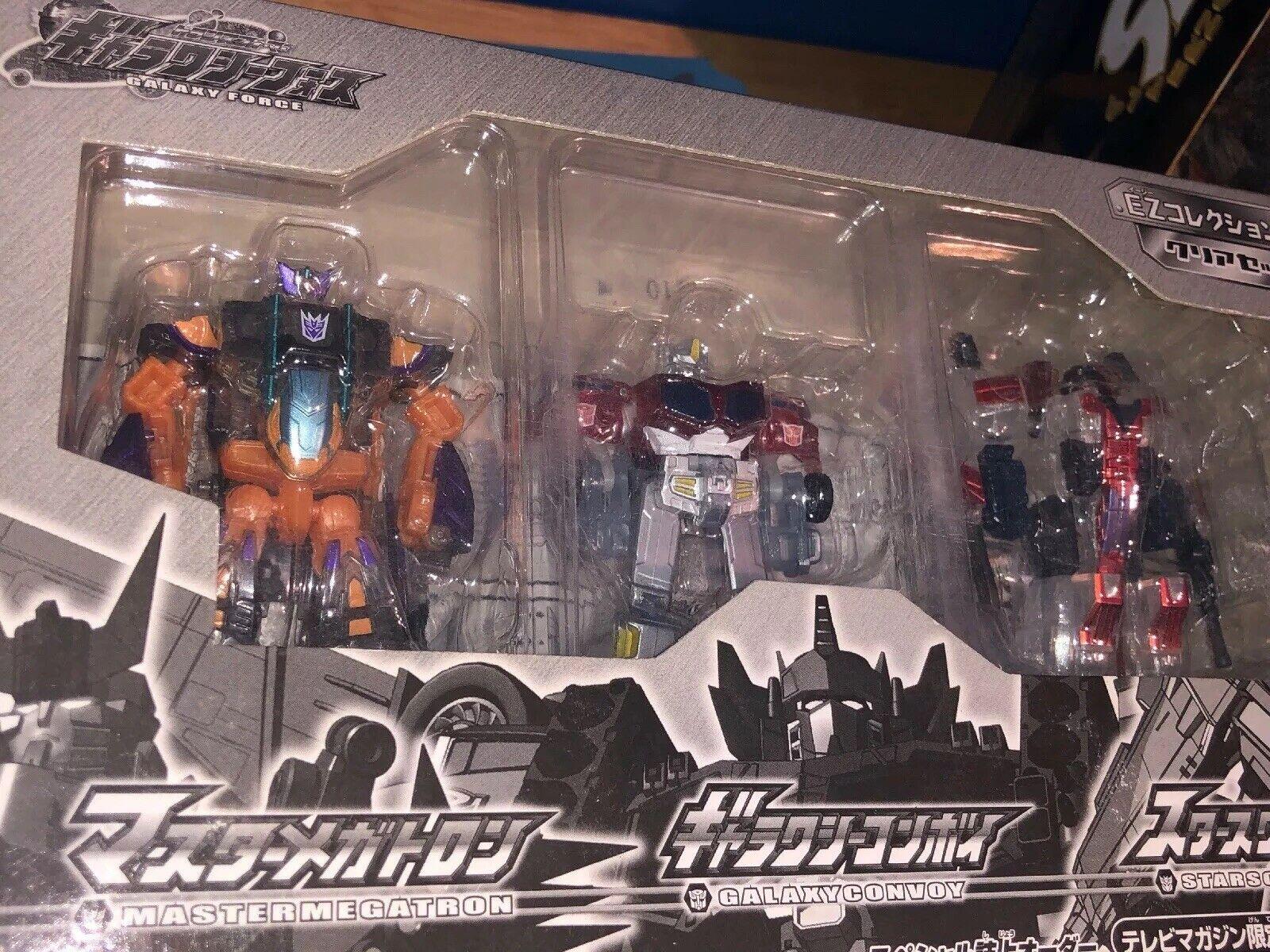 Galaxy Force Dengeki Hobby EZ Collection Galvatron Optimus Prime Starscream