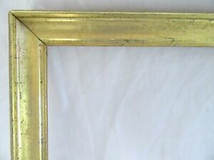 SM-Antique-Fit-7-X-12-034-Lemon-Gold-Gilt-Picture-Frame-Wood-Gesso-Fine-Art-Country