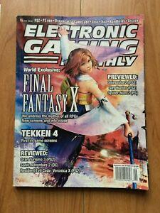 EGM MAGAZINE #146 Sept. 2001 Final Fantasy X, Takken 4. RARE Cover!! VTG