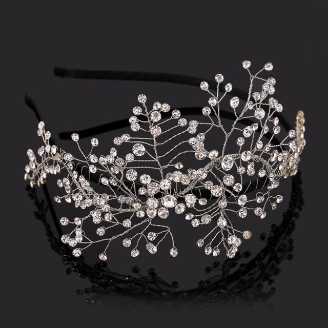 Handmade Crystal Crown Headband Wedding Bridal Jewelry Tiara Headpiece Prom Gift
