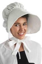 Colonial Pilgrim Amish Bonnet Costume Accessory - White