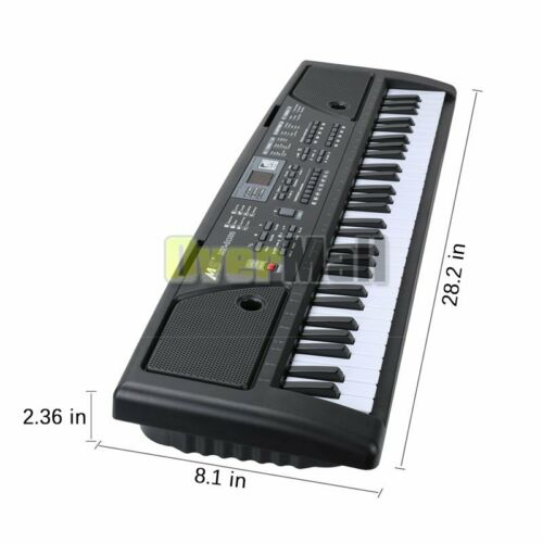 61 Keys Music Electronic Keyboards Electric Digital Piano with Mic /& Music Stand