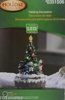 Christmas Holiday Living Christmas Tree With Snowman Tabletop Decoration