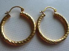 Boucles d'oreilles créoles en plaqué or poinçonné