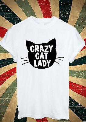 Crazy Cat Girl Women Lady Tumblr T Shirt Men Women Unisex 1671