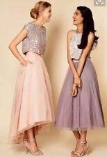 BNWT🎀Coast🎀Size 6 Iridessa High Low Blush Skirt Net Tulle Weddings XS New £129