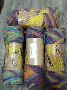 Vtg-Caron-DazzleAire-Yarn-H2260-Earthglo-9-Skeins-Same-Lot-Acryl-Nylon-Blend