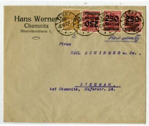 Germany-Scarce-Usage-Cover-28-Total-Stamps-on-Both-Sides