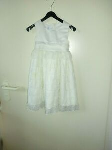 92 Olivia Rose Ausgezeichnete QualitäT Beiges Langes Kleid Mit Lochmuster Und Satinoberteil/schleife Gr In