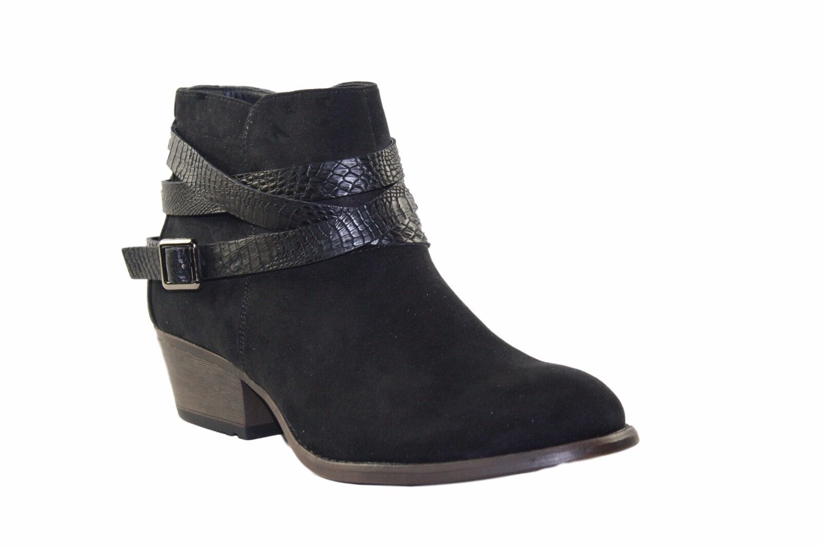 Claudia Ghizzani casual ankle boot with croc strap detail - 3 colours available