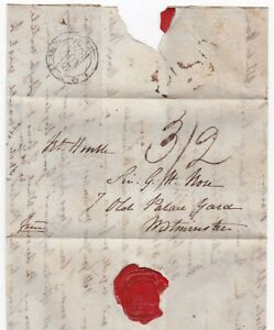 1836-LONDON-FOREIGN-BRANCH-PMK-PART-LETTER-TO-SIR-G-H-ROSE-FROM-SON-IN-EUROPE