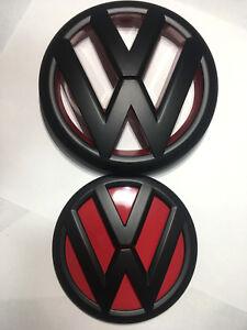 VW-GRILLE-HATCH-Front-Rear-Matte-Badge-Set-for-VOLKSWAGEN-GOLF-6-MK6-GTI-R-TDI