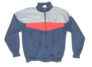 Details about Men's Adidas Gray Blue Red VTG 80s 90s WHITE TAG Vintage Track Jacket Sz M