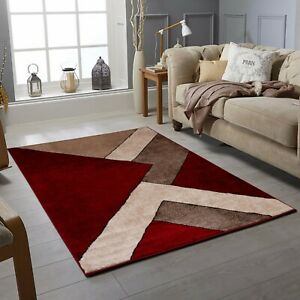 Modern Oxford Collection Small Extra Large Living Room Floor Carpet Rug Red Ebay