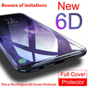 brand new 54554 2fdda Details about 6D Screen Protector For Samsung Galaxy S8 S9 Plus Note 9 8  Best Tempered Glass