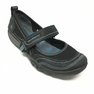 Women-039-s-Merrell-Mimosa-Emme-Mary-Jane-Loafers-Shoes-Size-6M-Black-Leather-B13
