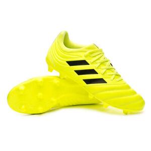 Dettagli su Scarpe da Calcio Uomo Adidas Copa 19.3 FG Col. Giallo Fluo