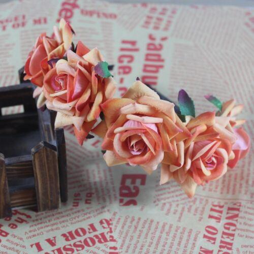 lady Bride Floral Headband Crown Rose Flower Hairband Garland Wreath Accessories