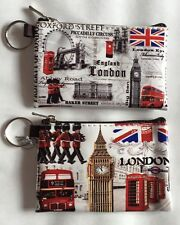 2 X Londra Inghilterra British Moneta Portamonete Portafoglio Souvenir Regalo