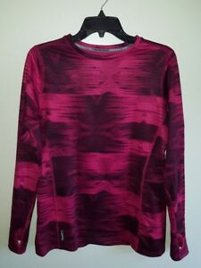 Champion-Women-039-s-S-M-L-XL-Varitherm-Duofold-Long-Sleeve-Shirt-BERRY-Thermal-Warm