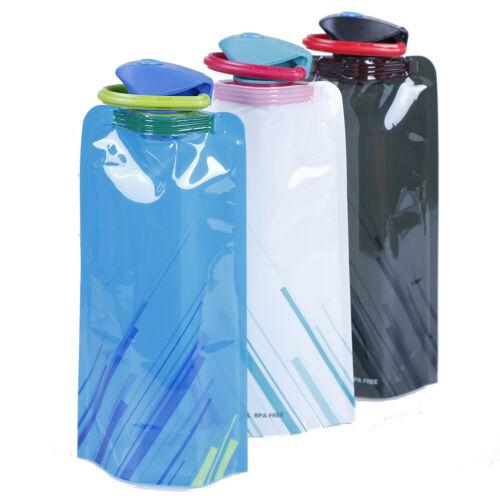 Reusable 700mL Sports Travel Collapsible Folding Drink Water Bottle KettleDE  dx