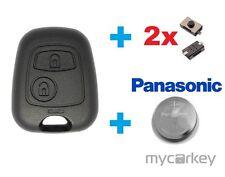 PEUGEOT Schlüssel Gehäuse Fernbedienung Autoschlüssel + BATTERIE + MICROTASTER