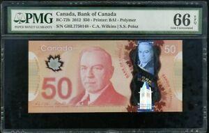 CANADA-50-DOLLARS-ND-2012-P-109-POLYMER-GEM-UNC-PMG-66-EPQ