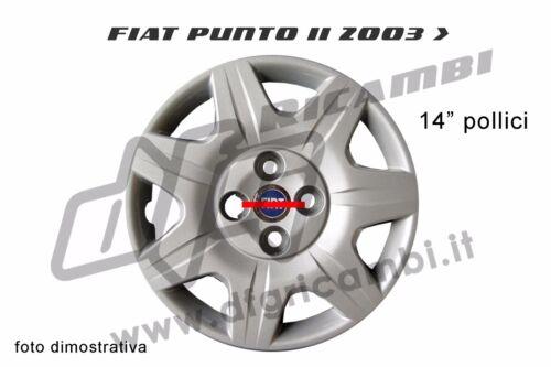 """BORCHIA FIAT PUNTO 2003 /> 14/"""" POLLICI COPPA RUOTA COPRI CERCHIO"""