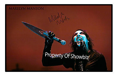 MARILYN MANSON AUTOGRAPHED SIGNED  POSTER    - GREAT PIECE OF MEMORABILIA