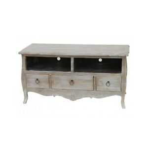 tv board tv kommode landhaus shabby chic provence brocante wei gewischt ebay. Black Bedroom Furniture Sets. Home Design Ideas