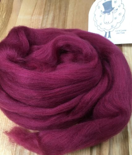 Wine ideal for felting//spinning//dreads//textile art Merino Wool Top//Roving